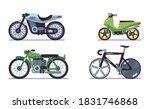Set Of Vehicles. Motorcycles O...