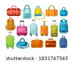 travel luggage  metal backpacks ...   Shutterstock .eps vector #1831767565