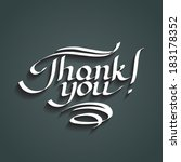 thank you hand drawn lettering. ... | Shutterstock .eps vector #183178352