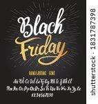 black friday font. typography... | Shutterstock .eps vector #1831787398