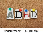 adhd the abbreviation for... | Shutterstock . vector #183181502