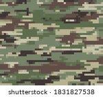 modern digital pixel camouflage ... | Shutterstock .eps vector #1831827538
