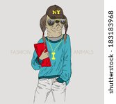illustration of dressed up...   Shutterstock .eps vector #183183968