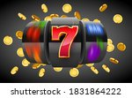 black slot machine with flying... | Shutterstock .eps vector #1831864222