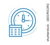 clock schedule icon vector.... | Shutterstock .eps vector #1831901392