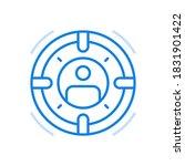 targeting skilled... | Shutterstock .eps vector #1831901422