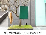 large blank billboard on a... | Shutterstock . vector #1831922152