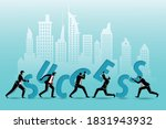 Vector Illustration Of Business ...