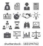 business icons | Shutterstock .eps vector #183194762