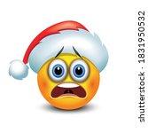 scared emoticon emoji with... | Shutterstock .eps vector #1831950532