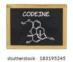 chemical formula of codeine on... | Shutterstock . vector #183195245