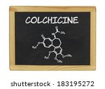 chemical formula of colchicine... | Shutterstock . vector #183195272