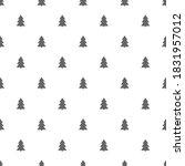 christmas trees seamless...   Shutterstock .eps vector #1831957012