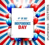 independence day   vector... | Shutterstock .eps vector #183195836