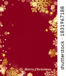 merry christmas card background ... | Shutterstock . vector #1831967188