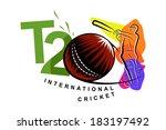 twenty twenty cricket | Shutterstock .eps vector #183197492