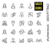 sales thin line icons    stock... | Shutterstock .eps vector #1831977862