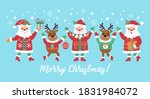 christmas holiday cute santa... | Shutterstock .eps vector #1831984072