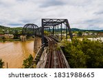 This Is A Wide View Of An...