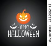 happy halloween vector... | Shutterstock .eps vector #1832002465