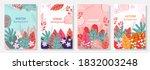 vector set four seasons  winter ... | Shutterstock .eps vector #1832003248