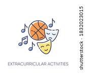 extracurricular activities rgb...   Shutterstock .eps vector #1832023015