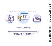 hybrid learning concept icon....   Shutterstock .eps vector #1832025715