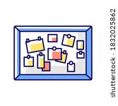 Bulletin Board Rgb Color Icon....