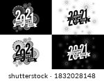 vector happy new year 2021 with ...   Shutterstock .eps vector #1832028148