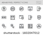 set of no ads vector line icons.... | Shutterstock .eps vector #1832047012