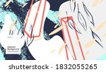 abstract background... | Shutterstock .eps vector #1832055265