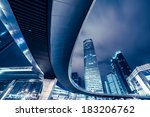 the night view of shanghai ... | Shutterstock . vector #183206762