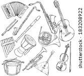 accordion,african,art,background,balalaika,cartoon,clarinet,classical,clip,concert,contour,design,doodle,draft,draw