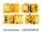 yellow coupons for free oil... | Shutterstock .eps vector #1832099818