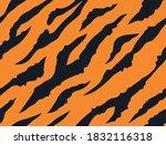 tiger fur seamless pattern.... | Shutterstock .eps vector #1832116318