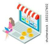 Online Shop  Isometric 3d...