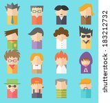 app,avatar,business,businessman,cartoon,character,communication,design,face,flat,graphic,hair,head,human,icon