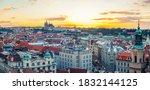 Panorama Of Prague Old Town...