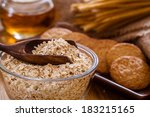 oatmeal cookie | Shutterstock . vector #183215165