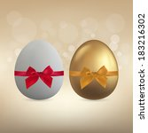 white and gold egg with...   Shutterstock .eps vector #183216302