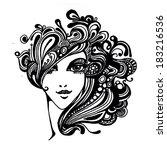 fashion portrait | Shutterstock . vector #183216536