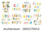 set of lettering quotes... | Shutterstock .eps vector #1832170012