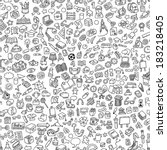 school seamless pattern in... | Shutterstock .eps vector #183218405