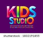 vector colorful logo kids... | Shutterstock .eps vector #1832191855