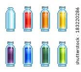vector set of slim pixel... | Shutterstock .eps vector #183220286