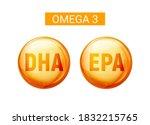 omega 3 fatty acid dha epa... | Shutterstock .eps vector #1832215765