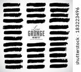 brush strokes   set   isolated... | Shutterstock .eps vector #183223496