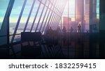 modern interior of spacious... | Shutterstock . vector #1832259415