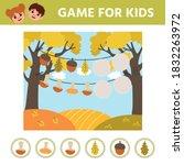 autumn preschool printable... | Shutterstock .eps vector #1832263972