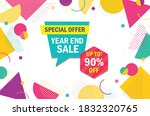 vector of year end special... | Shutterstock .eps vector #1832320765